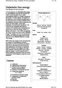 Helmholtz free energy - Wikipedia, the free encyclopedia