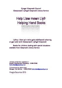 Help Llaw mewn Llyfr Helping Hand Books
