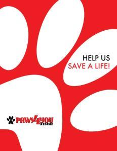 HELP US SAVE A LIFE!