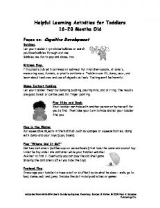 Helpful Learning Activities for Toddlers Months Old