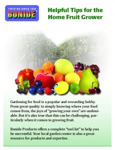 Helpful Tips for the Home Fruit Grower