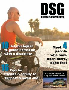 Helpful topics to guide someone with a disability