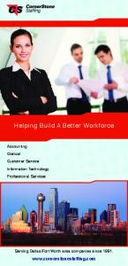 Helping Build A Better Workforce