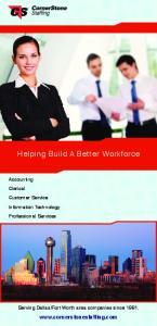 Helping Build A Better Workforce