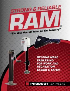 Helping make trailering for work and recreation easier & safer. PRODUCT CATALOG