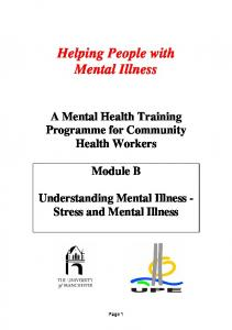 Helping People with Mental Illness
