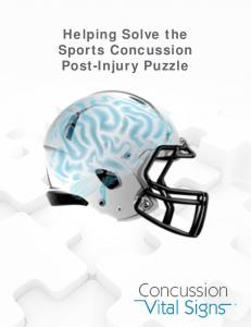 Helping Solve the Sports Concussion Post-Injury Puzzle