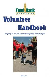 Helping to create a community free from hunger