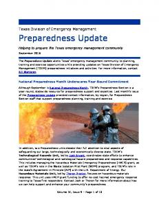 Helping to prepare the Texas emergency management community