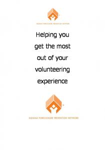 Helping you get the most out of your volunteering experience