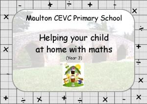 Helping your child. at home with maths