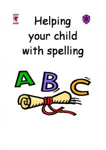 Helping your child with spelling