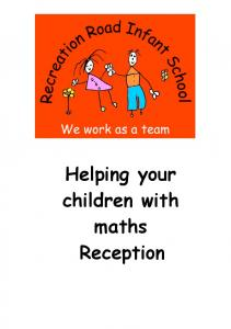 Helping your children with maths Reception