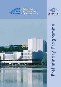 Helsinki AIPPI Forum & ExCo 5-11 September 2013
