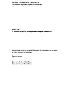 HELSINKI UNIVERSITY OF TECHNOLOGY Department of Engineering Physics and Mathematics