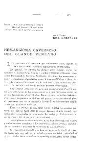 HEMANGIOMA CAVERNOSO DEL GLANDE PENEANO