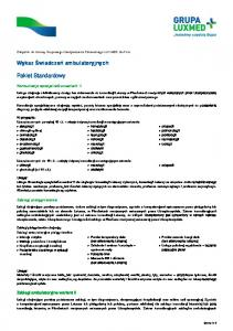 hematologii kardiologii laryngologii nefrologii neurologii okulistyki onkologii