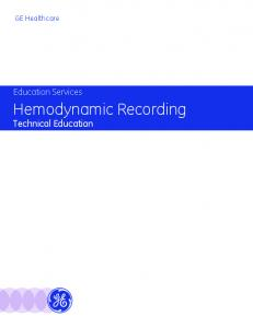 Hemodynamic Recording Technical Education