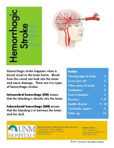 Hemorrhagic Stroke WHAT YOU NEED TO KNOW