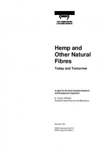 Hemp and Other Natural Fibres