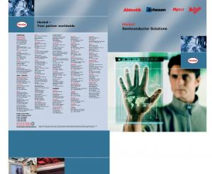Henkel. Semiconductor Solutions. Henkel. Your partner worldwide