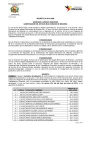 HENRIQUE CAPRILES RADONSKI GOBERNADOR DEL ESTADO BOLIVARIANO DE MIRANDA