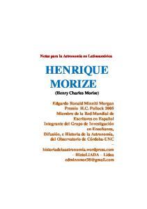 HENRIQUE MORIZE (Henry Charles Morize)