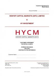 HENYEP CAPITAL MARKETS (DIFC) LIMITED HY INVESTMENT