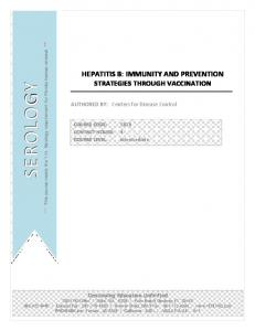HEPATITIS B: IMMUNITY AND PREVENTION STRATEGIES THROUGH VACCINATION