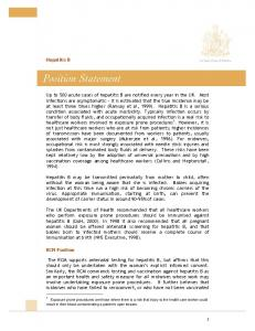 Hepatitis B. RCM Position