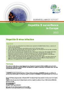 Hepatitis B surveillance in Europe
