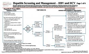 Hepatitis B Virus (HBV) PRESENTATION
