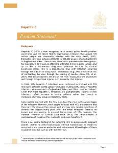 Hepatitis C. Background