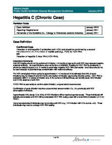 Hepatitis C (Chronic Case)