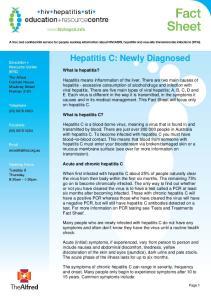 Hepatitis C: Newly Diagnosed