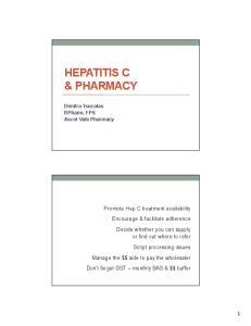 HEPATITIS C & PHARMACY