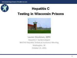 Hepatitis C Testing in Wisconsin Prisons