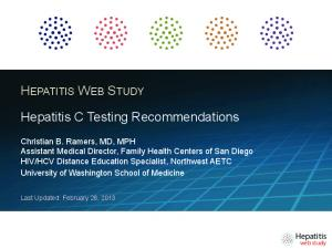 Hepatitis C Testing Recommendations