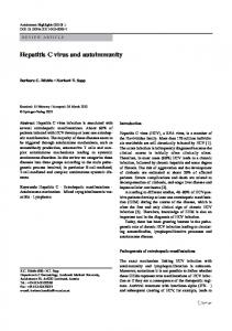 Hepatitis C virus and autoimmunity