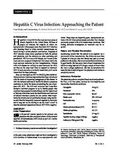 Hepatitis C virus (HCV) is the most common cause of