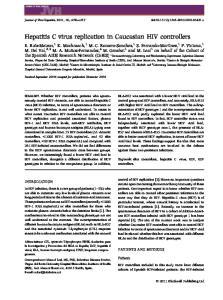 Hepatitis C virus replication in Caucasian HIV controllers