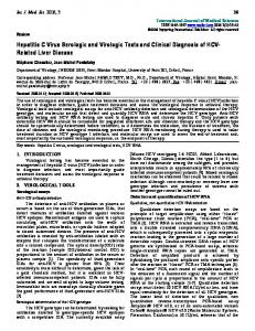 Hepatitis C Virus Serologic and Virologic Tests and Clinical Diagnosis of HCV- Related Liver Disease