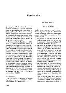 Hepatitis viral CURSO CLINICO