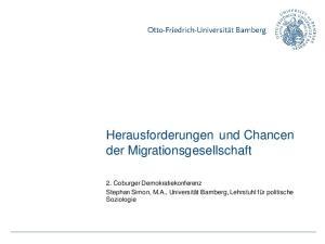 Herausforderungen und Chancen der Migrationsgesellschaft