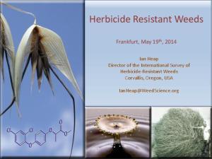 Herbicide Resistant Weeds