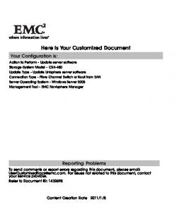 Here is Your Customized Document