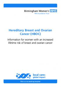 Hereditary Breast and Ovarian Cancer (HBOC)