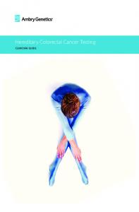 Hereditary Colorectal Cancer Testing. clinician guide