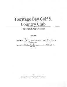 Heritage Bay Golf & Country Club