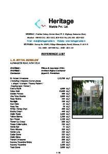 Heritage. Marble Pvt. Ltd